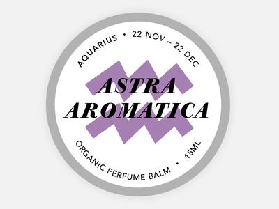 Perfume Tin Label - Aquarius