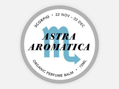 Perfume Tins Label - Scorpio scorpio balm astrology cosmetics branding round tin label organic zodiac perfume