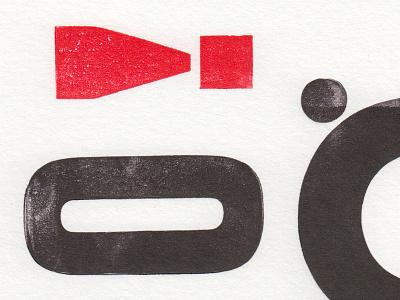 Inky Fingers - Letterpress ink wood type printing experimental typography face letterpress