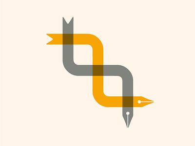 Pen Snakes arrow logo helix snake nib pen