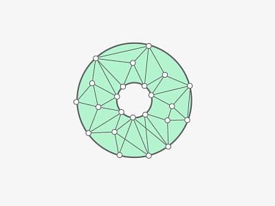 Roundel roundel disc web doughnut connecting lines circle