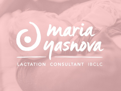 Lactation Consultant Logo peach pink doula baby consultant lactation consultant breast feeding embrace branding identity logo