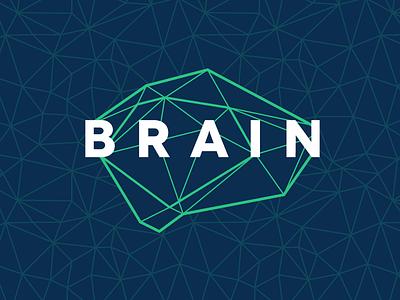 Neuroimaging Logo triangles identity brand logo lines hub network lab science neuroimaging neuroscience brain