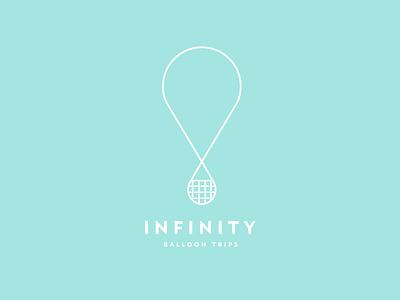 Balloon Logo dailylogochallenge infinity infinite line brand logo balloon