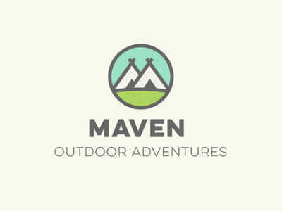 Outdoor Adventure Logo daily logo challenge teepee tipi camping tent adventure outdoors