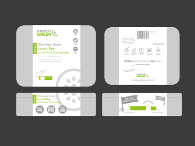 Sustainable Lunchbox Packaging icon design sustainability product illustration packaging mockup ethical green eco wrap lunchbox sustainable packaging