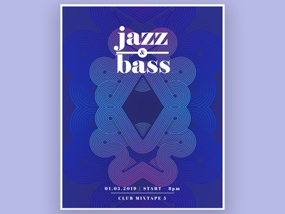 Jazz and Bass event poster