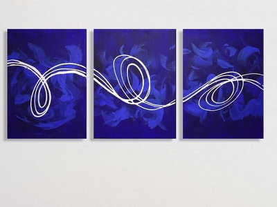 abstract triptych painting wall art original painting triptych abstract