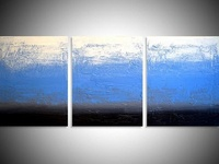 Ice Blue, triptych original painting