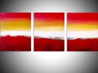 "abstract triptych painting ""colour Slats"""