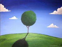 landscape tree painting tree of life art