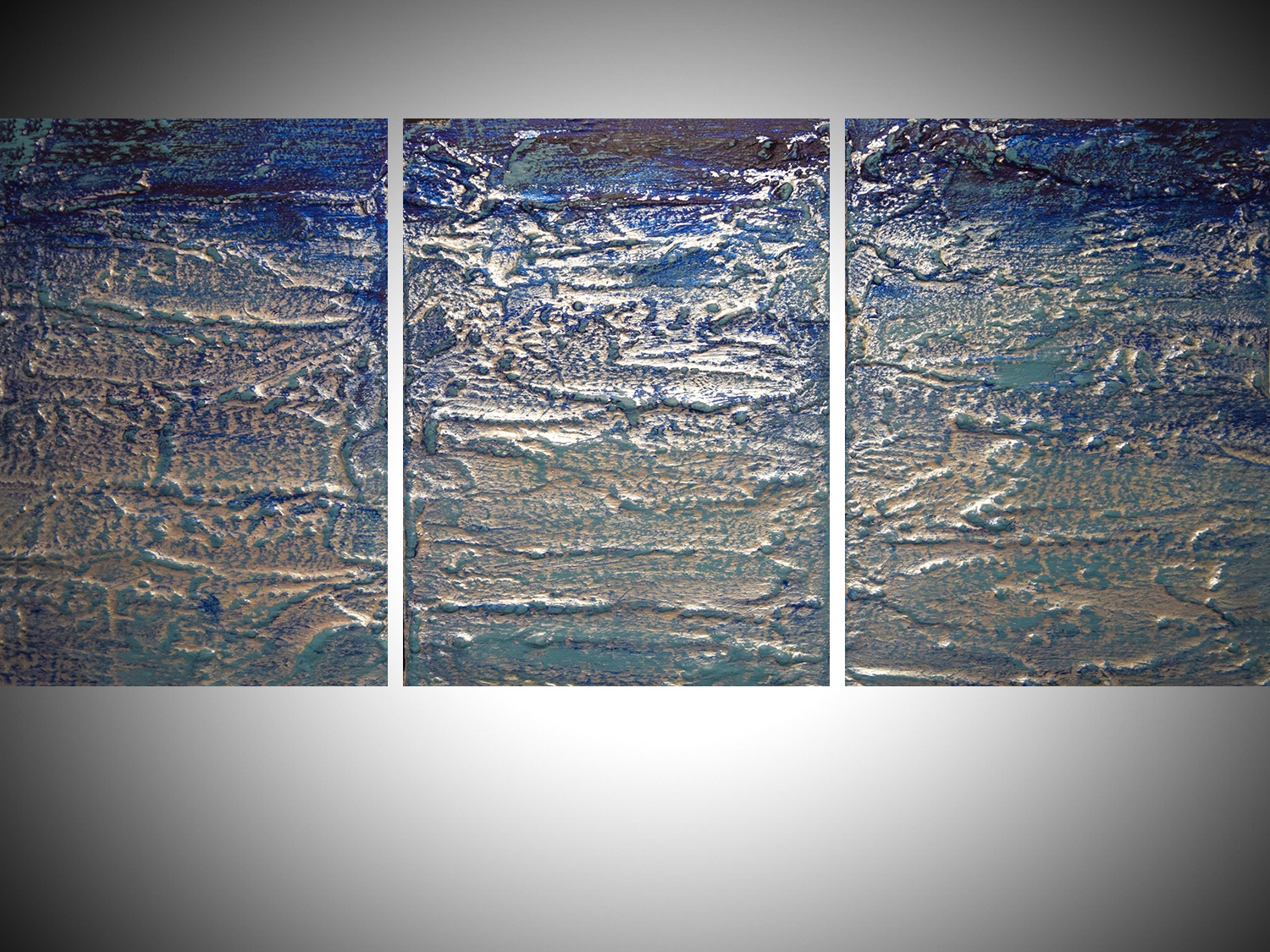 turquoise art triptych painting 48 x 20 inches turquiose triptych turquioise artwork turquoise painting abstract art animal triptych