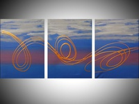 Art and Soul , abstract in acrylic triptych