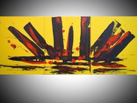 Yellow Intuition acrylic painting, original