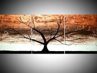 Copper Tree metallic painting
