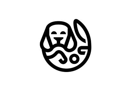 Bigley icon dog playing dog logos dribbble logo