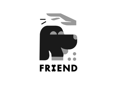 FRIEND design branding logos art icon dog vector dribbble illustration logo