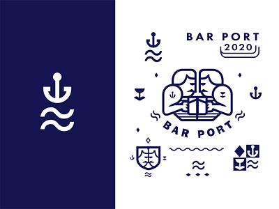PORT sailor sea vector logos dribbble icon art logo illustration
