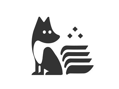 The wise Fox лис branding vector logos dribbble icon logo