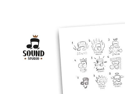 sound studio note design vector logos icon logo