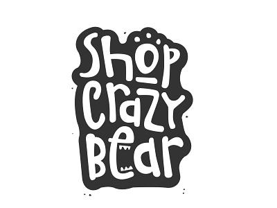 Shop crazy bear crazy illustration vector logo art bear logo