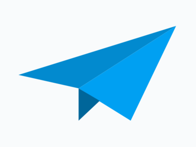 New Minutemailer symbol email marketing email blue paper plane minutemailer