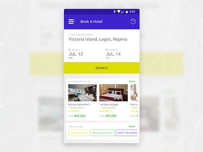 Progressive Web App Design for Hotel Booking site ux ui nigeria hotel gravit app mobile pwa