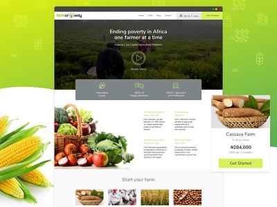Farmcrowdy Web Redesign farmcrowdy gravit designer agriculture web user interface