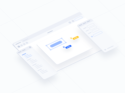 Design Exploration #2 collaboration multiplayer figmadesign figma design exploration exploration isometric isometric design isometric illustration isometric interface design system exploring ui ux interface clean ui illustration saas startup startups