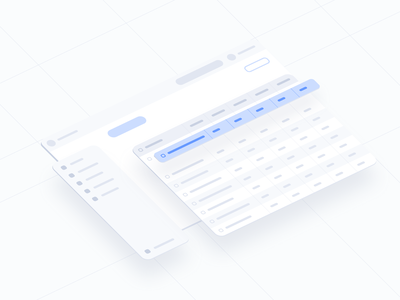 Design Exploration #6 list view table view data table ux ui startups startup saas isometric interface isometric illustration isometric design isometric interface illustration exploring exploration design system design exploration clean ui
