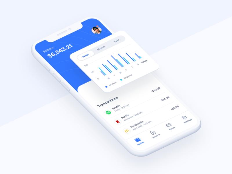 Banking balance concept uiux ui minimal cards banking expenses wallet charts chart analytics app app design dashboad fintech app fintech finance