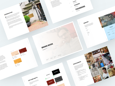 Founders – Brand Book ux ui palette guide style screens dtp print guidelines manual book brand