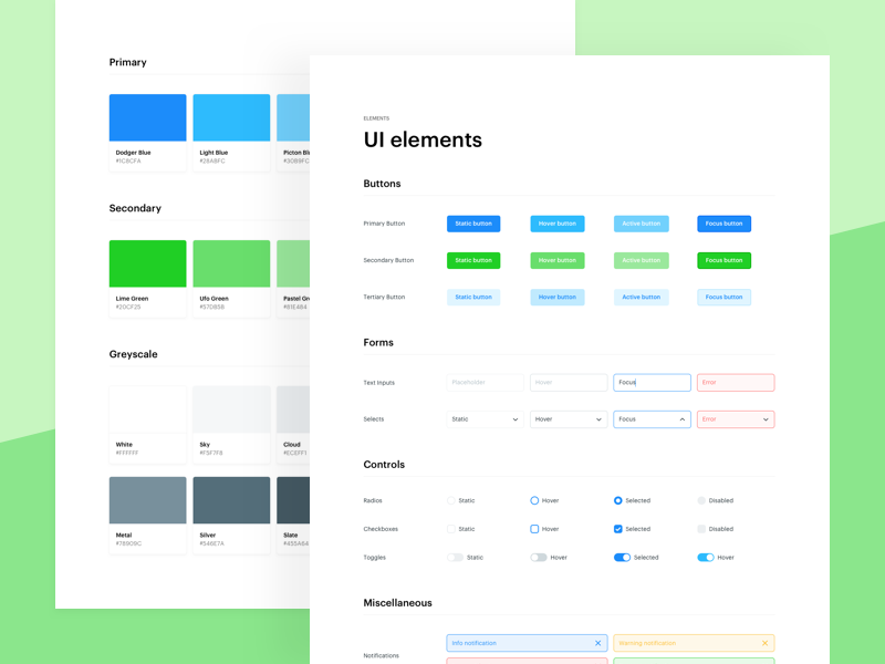 Project styleguide