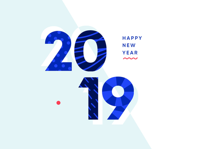 Heavyweight – Happy New Year! new year 2019 new year eve year typography numbers new year happy new year video gif animation 2019 2018