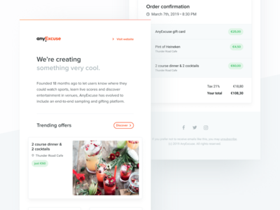 AnyExcuse – Newsletter Template