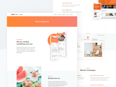 AnyExcuse – Business Landing Page