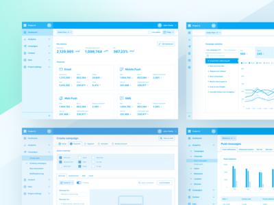 Marketing Platform – Wireframes