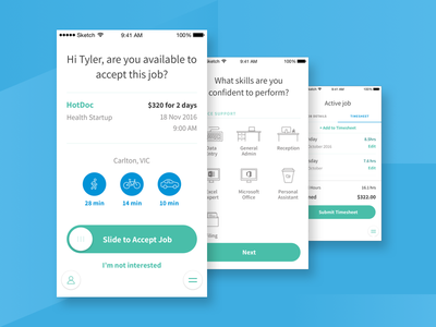 Weploy iOS App temporary employment employment app employment mobile app ios app