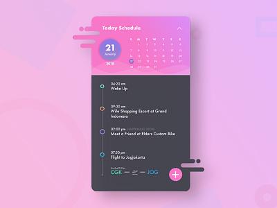Calendar Schedule ios calendar illustration flat ux ui designer design card cards app