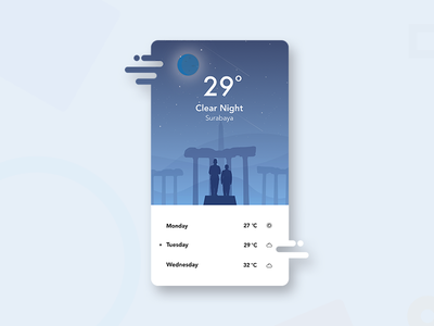 #Exploration - The Weather 3.0 designer clean ux ui design illustration ios weather card pop up aplication app
