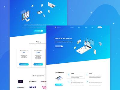 Landing Page for Copilot Platform website web landing page chat designer design flat illustrations illustration app