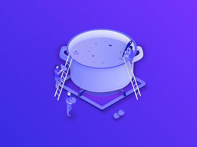 Cook ui designer design illustration cook food people animation app