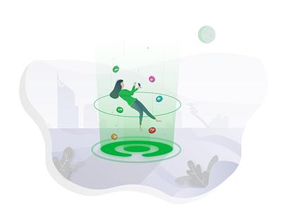 SOLV gojek flat animation vector design ui illustration