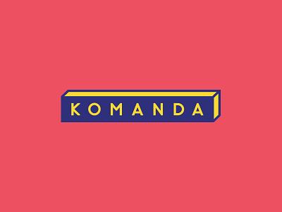 Logo design for 'komanda'  colours grapic design logo design