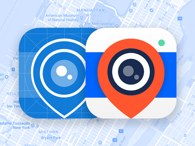 Wink App Icon camera maps mapping logo branding icon app ios