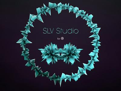 SLV Studio greyscalegorilla cinema4d dribbble polygons tutorial lowpoly
