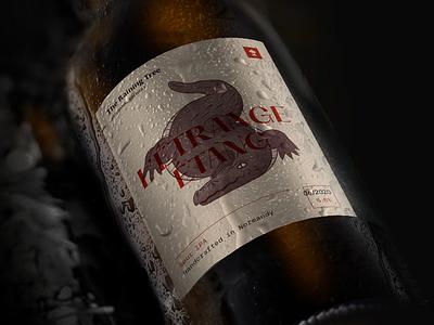 L'étrange étang - Beer Bottle Design alligator swamp normandy dark mysterious label branding crocodile illustration packaging bottle beer