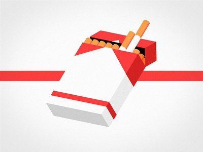 Have a cigaret packs marlboro photoshop illustrator flat isometric cigaret