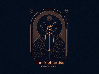 The Alchemist - Identity apothecary religion mythology symbols eye human dark spirits magic esoteric insect illustration illustrator branding identity logo alchemy