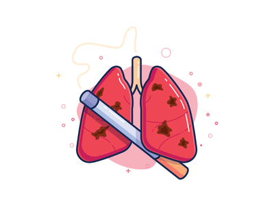 Cigarette & Lungs lung spots no smoking smoking smoke illustrations disease health lungs cigarette